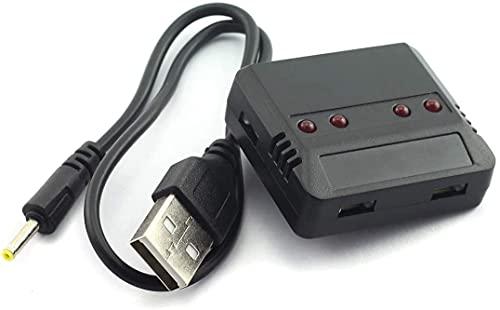 YUNIQUE ITALIA 1 Pezzo Caricatore USB 1 to 4 per modelli Hubsan H107 H107L H107C H107D, Wltoys V202 V252 V939, UDI U816 U816A U830, JXD 385 388 392, Syma X5 X5C X5SW, FY 310 310B, Hubsan H107 H107L H107C H107D, Wltoys V202 V252 V939, UDI U816 U816A U830, JXD 385 388 392. Syma X5 X5C X5SW, FY310 FY310B, Holy Stone F180C M68 M68R(plus) M61 M62 M62R F180C F181