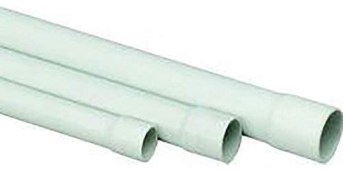 Stangenrohr PVC, 2m EN25mm, grau