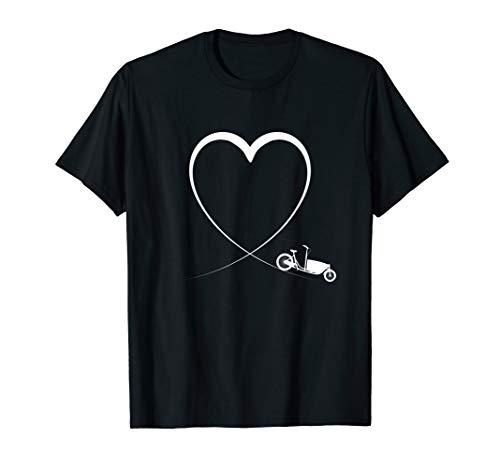 Lastenrad Fahrradkurier Lastenfahrrad Transportrad T-Shirt