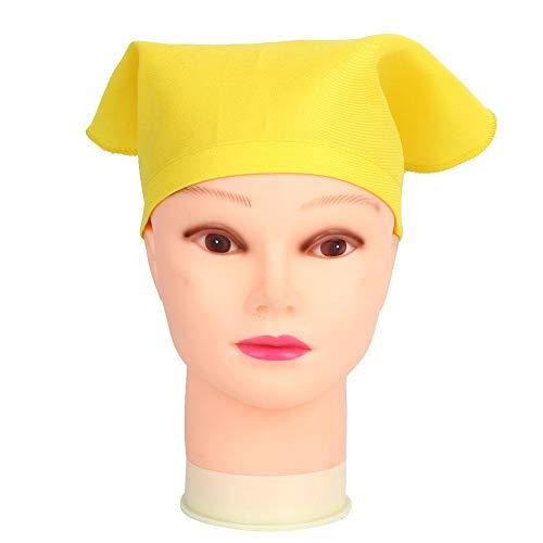 Jeffergarden Kinder Kochmütze Kinder Malen Zeichnen Hut Tragbares Stirnband Backen Kochen Zubehör Kleidung Unisex für Innen(Gelb)