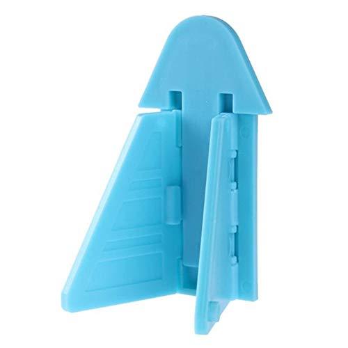 DUO ER Cerradura de la Puerta 2pcs Nevera Refrigerador Congelador Bloqueo Bloqueo de Ventanas for Protección de Seguros del niño de plástico (Color : Blue)