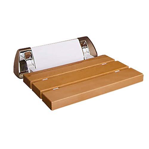 Taburetes de ducha de pared plegables Taburete de madera para asiento de ducha montado en la pared Taburete plegable de madera para cambiar zapatos Taburete para ancianos / discapacitados Taburete de