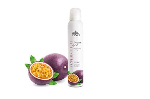 Shower Me! 37441 Duschschaum Passion Fruit 200 ml (GP:59,95€/ 1 Liter) + 2 Waschhandschuhe von Carmesin.com