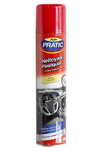 AUTO PRATIC Nettoyant Plastiques Finition Brillante Parfum Vanille 300ml (Lot de 3)