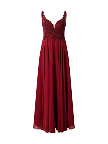 Mascara Damen Abendkleid MC181487 weinrot 42