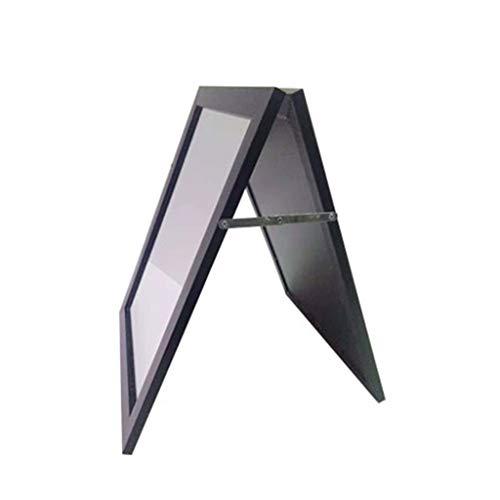 JJZI-L Metallständer Stand-Standspiegel Beruf Schuhgeschäft Schuh Standspiegel Rechteck faltet Kleinen Standspiegel Retro Rahmen High Definition Standspiegel (Color : F, Size : 40 * 50CM)