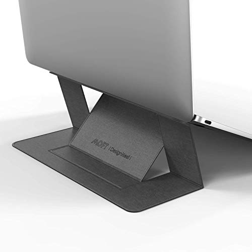 """Moft by DesignNest Laptop Stand - The Worlds first 'invisible' Laptop Stand (Compatible with laptops up to 15.6"""" ONLY) GREY"""