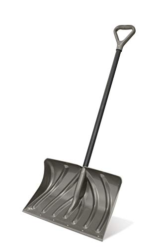 Suncast SC2700 20-Inch Snow Shovel/Pusher Combo with Wear Strip and D-Grip Handle, Gray