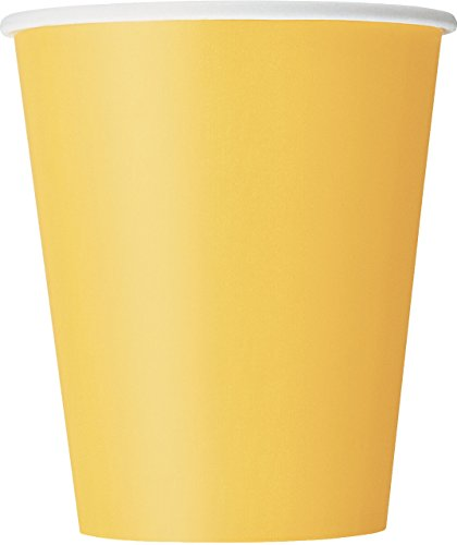 Unique Party - 31846 - Paquet de 14 Gobelets en Carton - 270 ml - Jaune