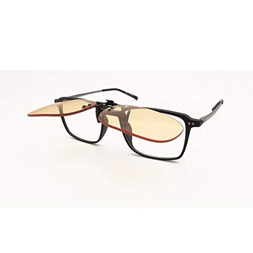Glazen Lenzen Clip Blauw Licht Blokkeren 56% UV Blok 99,99% Bijziendheid Assistant Eye Protector Amber Vrouwen Mannen