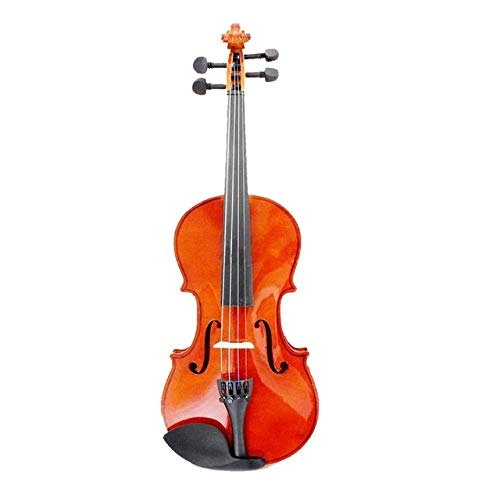 LOIKHGV Geige- Größe 3/4 Natural Violin Basswood Steel Saiten Dornbogen für Anfänger, Natural