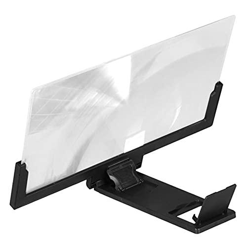 ZHOUCHENPQ Herramientas Pantalla de teléfono móvil de 14 Pulgadas Pantalla de Lupa Pantalla de Video Plegable Amplificador HD Tablet Soporte Soporte Celapa Pantalla Lupa (Color : Black)