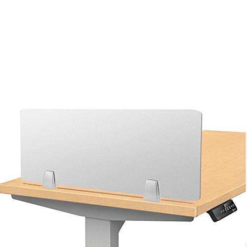 """Owfeel 23""""L×12""""W Frosted Desk Dividers Desk Panel Office Divider Partition Desktop Privacy Panel for Student Call Centers/Offices/braries/Classrooms/Library Acrylic Privacy Board (Without Clip)"""
