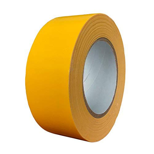 Exa Duct Tape 1.88 Inches x 60 Yards, Duct Tape for Crafts, Extra Strength, No Residue, DIY, Repairs, Indoor Outdoor Use, Book Repair, Must Have Garage Tool (1.88 X 60 Yards, Yellow)