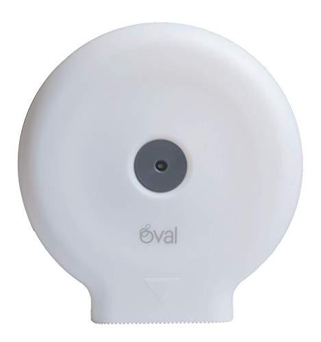Almacenamiento de papel higiénico de oficina   Soporte de papel higiénico ovalado blanco   30 x 29 x 13 cm