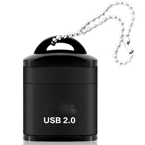 JJZXD Lector de Tarjetas USB Micro SD/TF USB 2.0 Mini Lector de Tarjetas de Memoria para teléfono móvil Adaptador USB de Alta Velocidad para Accesorios de computadora portátil (Color : B)