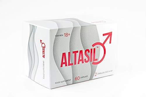 Pills for Male Performance Food Supplements to Improve Men's Function | 410mg | Premium Quality | ALTASIL Natural | 180 Capsules