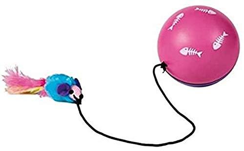 Trixie 4564 Turbinio Ball mit Motor und Maus, ø 9 cm