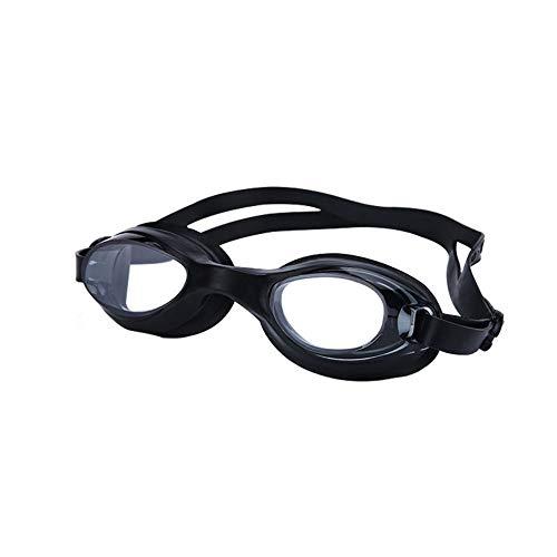 MHP zwembril van pvc, voor mannen en vrouwen, waterdichte anti-condens-bril met gehoorbescherming zwart