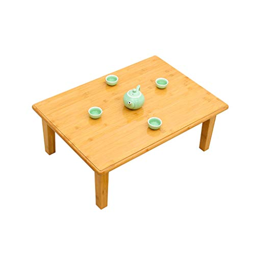 Klapptisch Bambus Massivholz Kleinen Quadratischen Tisch Fenster Tatami Tisch Tisch Kleine Couchtisch Bett Tisch Niedrigen Tisch LCSHAN (Size : 60 * 40 * 27cm)