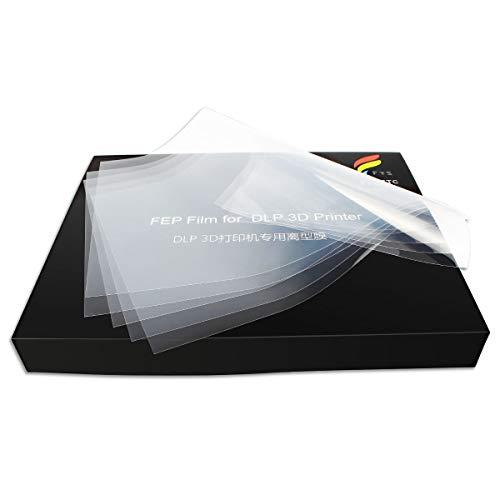 Toaiot - Película de liberación FEP 200 x 140 mm, grosor 0,1 mm, para impresora 3D UV, lámina de alta resistencia a la transmisión Wanhao D7 DLP Photon ELEG Mars LCD SLA 5 piezas
