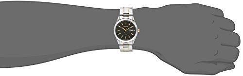 Fashion Shopping Seiko Men's SNE047 Two-Tone Solar Black Dial Watch