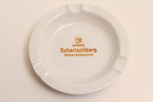 vintage13.de Aschenbecher Scharlachberg Meisterbrand Königl. pr. Tettau Weiß Rund