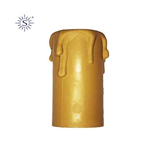 bougie Grande pour porte-lampes e-27 Crème