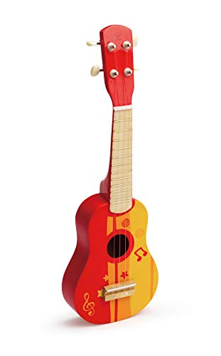 Hape Kid's Wooden Toy Ukulele (Red) $12.60 + Free Shipping w/ Amazon Prime or Orders $25+