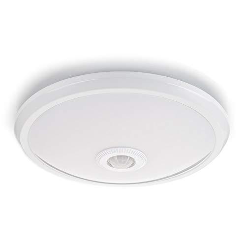sweet-led Deckenleuchte mit Sensor Weiß mit Bewegungsmelder, 360° Sensor, Deckenlampe