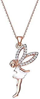 MESTIGE Rose Gold Fairy Dust Necklace with Crystals from Swarovski®, Pearl, Gift