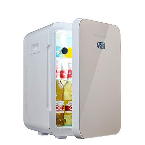 MMM Mini Kühlschrank 22L Gold Dual-Core-Mute CNC-Display Reefer Kühler Box (Home Office und Auto verwenden) @
