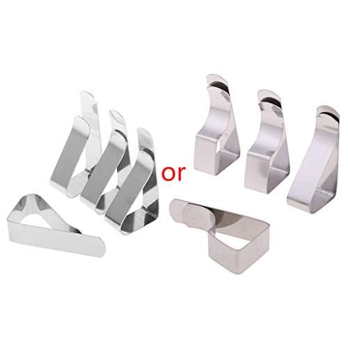 ZIRAN 4 Piezas de Mantel de Mantel Sujetador de Pinza para Fiesta Boda Pinzas de Mantel de Acero Inoxidable