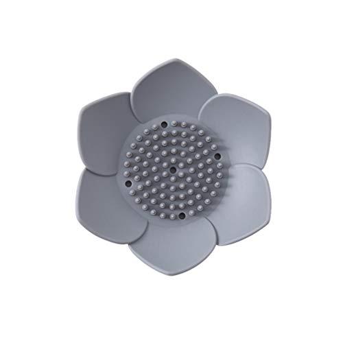 TopBathy, 1 portasapone a forma di fiore, in silicone, per la doccia, per sapone e sapone, per mantenere i pezzi di sapone asciutti, facile da pulire