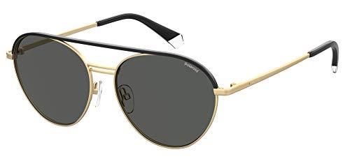 Polaroid Gafas de Sol PLD 2107/S/X Black Gold/Grey 56/15/145 hombre