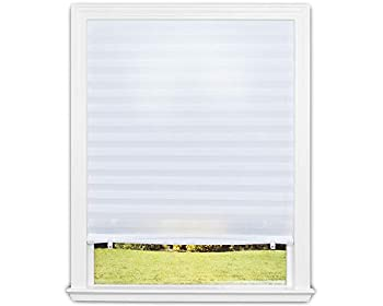 Redi Shade 3405191 Original Light Filtering Fabric White 48 in x 72 in Pleated Window Shade