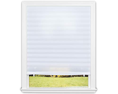 Redi Shade 3405092 Original Light Filtering Pleated Fabric Shade, 36 in x 72 in, White