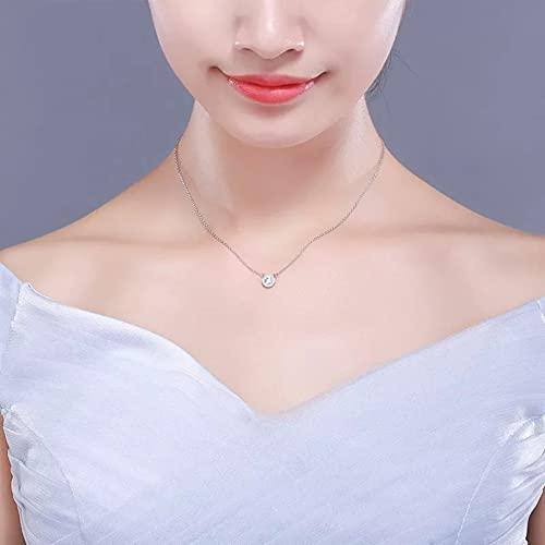 N/A Regalo de la joyería del Colgante del Collar de la Mujer LindoCollar de Gargantilla Corto con ColganteRedondopara Mujeres y niñas, joyería