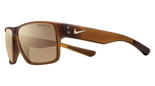 Nike Brown with Bronze Flash Lens Mavrk R Sunglasses, Matte Tortoise