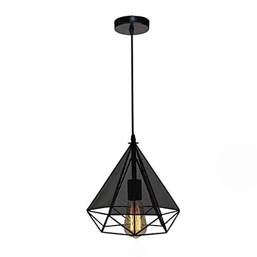 Portalámparas E27, moderno, diseño de diamante, pantalla de tela, lámpara de techo creativa para salón, comedor, cocina, mesa de comedor, hotel, lámpara de techo, lámpara decorativa, B