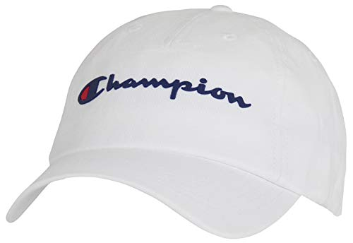 Champion Men's Ameritage Dad Adjustable Cap, white, One Size