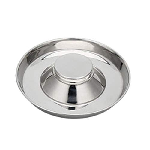 qingchen Slow Feed Bowl Stainless Steel Fits in Large Neater Feeders and Most 2 Quart Feeders