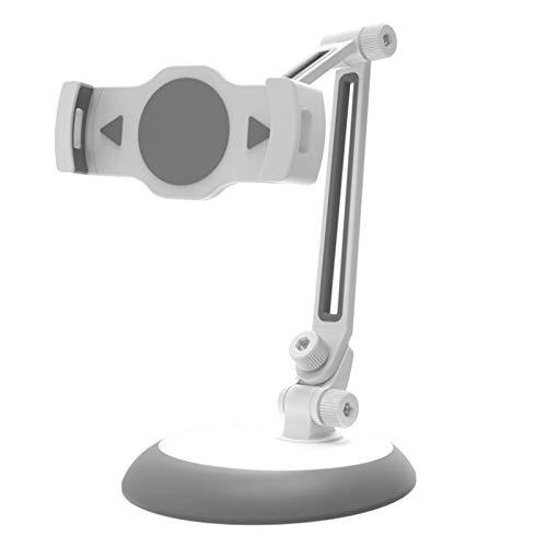 Domilay Soporte de Soporte de Montaje de Ventosa Universal Soporte de Tableta Plegable de AleacióN de Aluminio 360 RotacióN para Tabletas de 4-10 Pulgadas TeléFonos Celulares