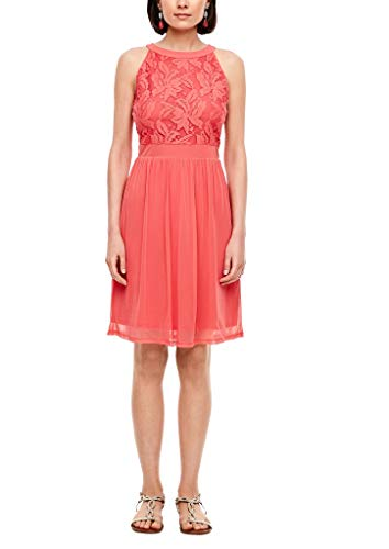 s.Oliver Damen Kleid kurz Coral 44