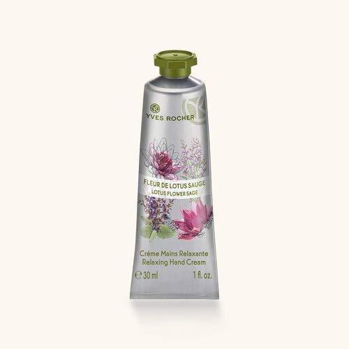 Yves Rocher LES PLAISIRS NATURE Handcreme Lotusblüte-Salbei, feuchtigkeitsspendende Hand-Pflege, 1 x Tube 30 ml