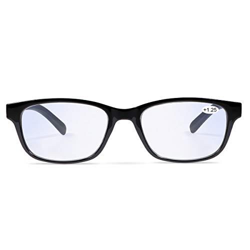 Unisex Progressives Multifokal Lesebrille Blaulichtfilter Brille Computerbrille für Herren Damen Anti Müdigkeit UV Blaue Licht Blockieren Brille Verringerung der Augenbelastung Presbyopie Leser