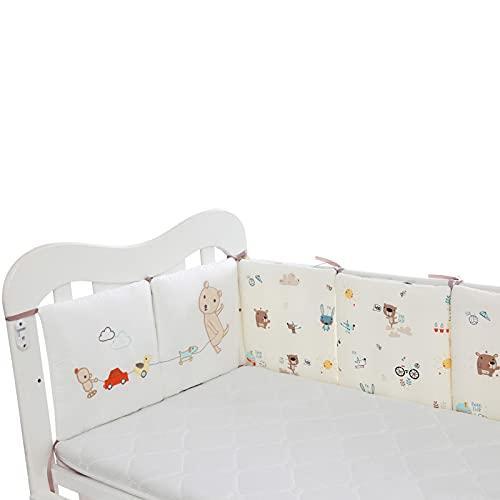 duhe189014 Baby Cuna Parachoques Patrón De Búho Cubierta De Riel De Cuna De Bebé Cojín Interior Cuna De Envoltura Segura Protector De La Protección De La Cama Liner AntiParachoques Cool