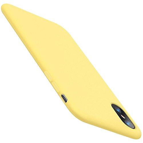 JEPER Funda iPhone X Carcasa Silicona Colores del Caramelo Protector TPU Ultra-Delgado Anti-Arañazos Caso Caja para Teléfono Apple iPhone 10/X 5.8 Pulgada Case (iPhone X, Amarillo)
