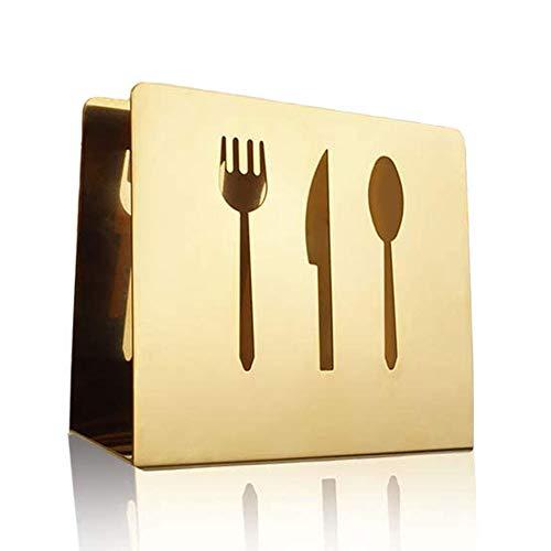 Wenxiaw Servilletero Vertical de Mesa Rack Moderno para Servilletas Servilletero de Acero Inoxidable para Mesa para Restaurante, Encimeras de Cocina, Hotel, Mesa de Comedor, Mesa de Picnic, Cafetería