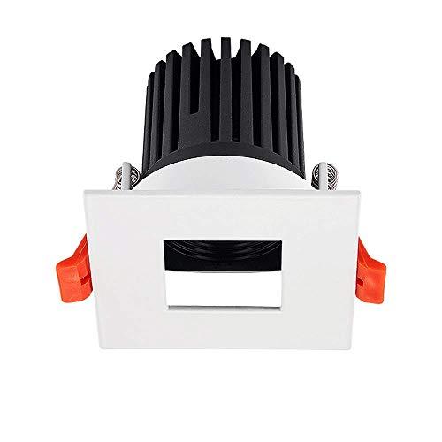 WEM - Foco empotrado clásico creativo de alta luminosidad LED empotrable, foco europeo integrado, lámparas planas, techo integrado, aluminio blanco, panel de techo, luces Villa salón, Floodlight